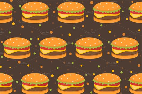 food pattern tumblr set fastfood patterns patterns on creative market