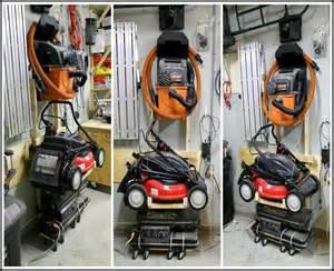 garage storage ideas for lawn mower home design classic two car new york creative bike