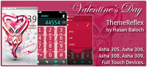 nokia asha love themes valentine s day theme for nokia asha 305 asha 306 asha