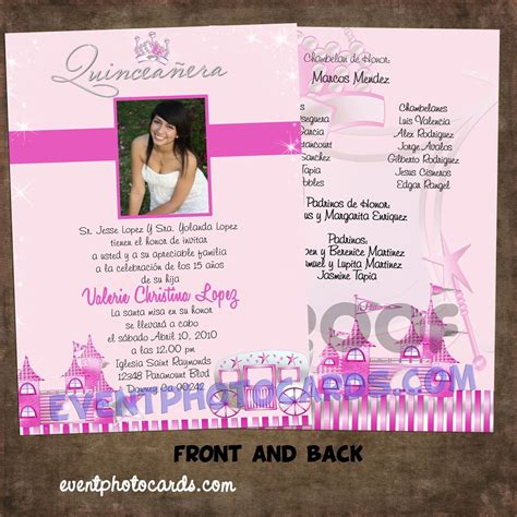 Quinceanera Sle Wording Invitation Cards Template by Princess Beautiful Quinceanera Sweet 16 Invitations