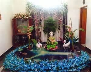 at home decorations saraswati puja decoration saraswati pooja vasant panchami pooja room pooja room designs