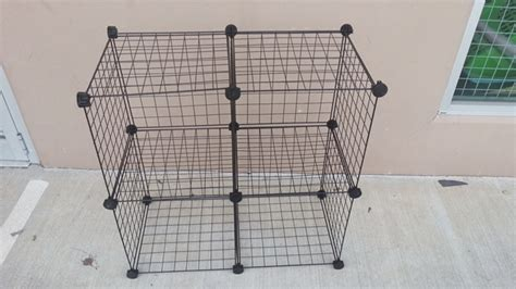 Stack And Rack Storage Cubes by 1set X 4 Black Stacking Wire Cube Storage Rack Ebay