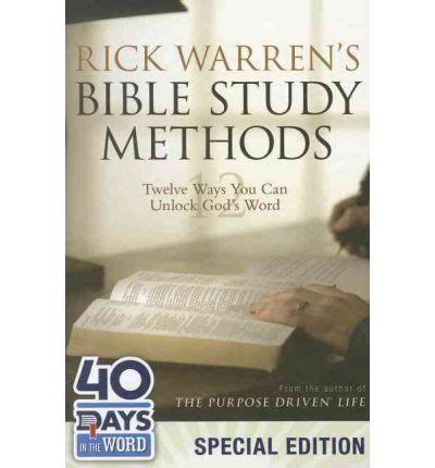 libro rick warrens bible study rick warren s bible study methods 40 days in the word rick warren 9780310495932