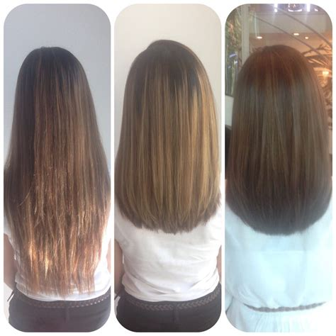 bob u shape back haircuts before before and after long bob haircut with ash toner