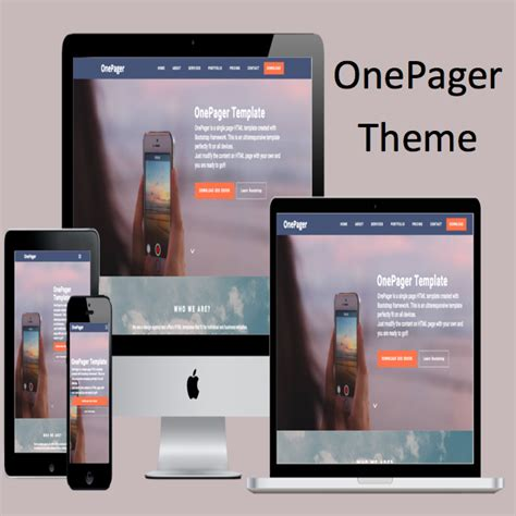 bootstrap themes hack onepager bootstrap template 187 webnots