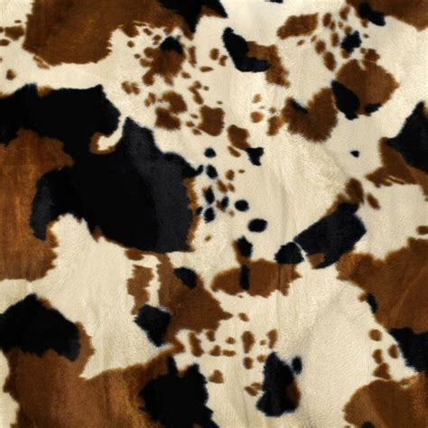 Cowhide Fabric By The Yard by Brown Cow Velboa Faux Fur Fabric Sold By The Yard