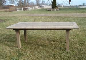 Wood Plank Kitchen Table Amish Rustic Plank Farmhouse Dining Table Barn Wood Country Kitchen Furniture Ebay