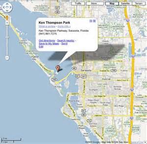 map of florida showing sarasota parking transportation at suncoast boat show 2009