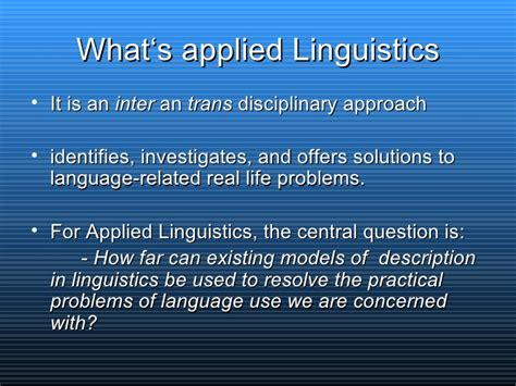 Applied Linguistics by Applied Linguistics