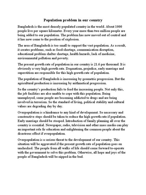Our Population Essay by Essay On Growth Of Population Population Reasons Of Population Explosion And It S Consequences