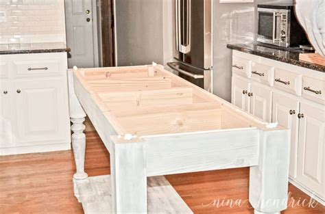 build kitchen island plans build your own diy furniture style kitchen island