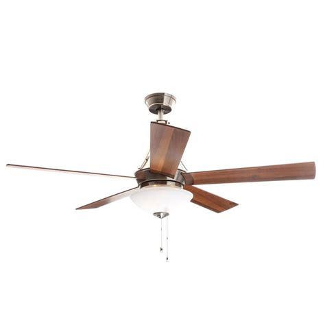 hunter antero fan 54 hunter antero 54 in led indoor brushed nickel ceiling fan