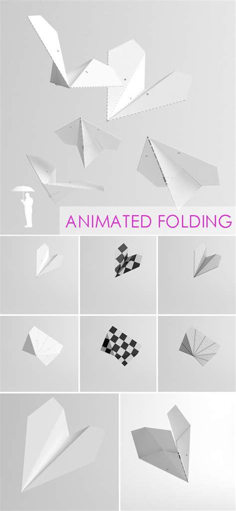 Folding Paper Animation - folding paper plane animation by konradrakowski 3docean