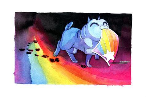 rainbow pug rainbow pug made a draw by blix it on deviantart