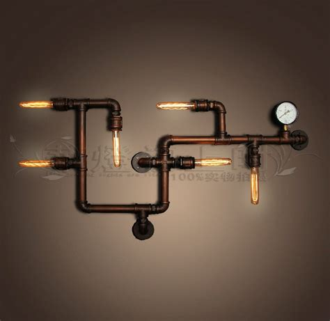 Creative Light Fixtures European Style Cafe Bar Wall Pipes Personalized Retro Personality Creative Industries