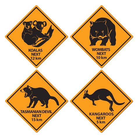 printable road signs australia australien tiere 4 schilder