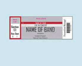 Concert Ticket Templates by Doc 858559 Concert Ticket Template Doc1300628 Blank