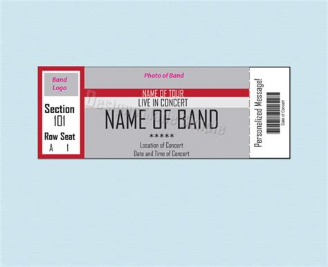 printable concert ticket template free 26 cool concert ticket template exles for your event
