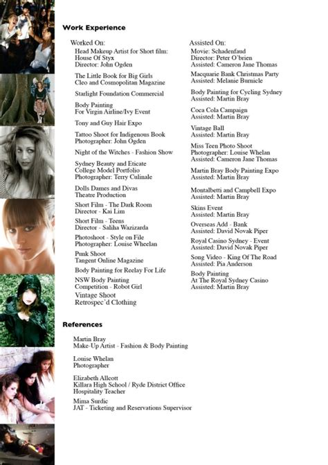 makeup artist cv sample amazing freelance makeup artist resume