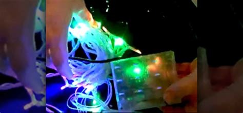 how to hack battery powered christmas lights into laptop