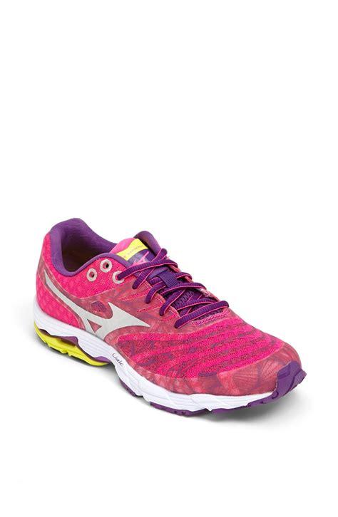pink mizuno running shoes mizuno wave sayonara running shoe in pink pink purple