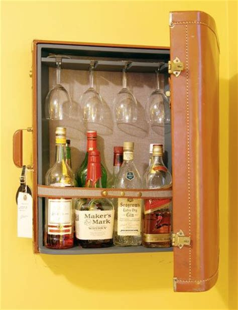 Diy Mini Bar Cabinet A Well Stocked Bar Ideas And Inspiration Vintage Suitcase Decor Vintage Luggage And Mini Bars
