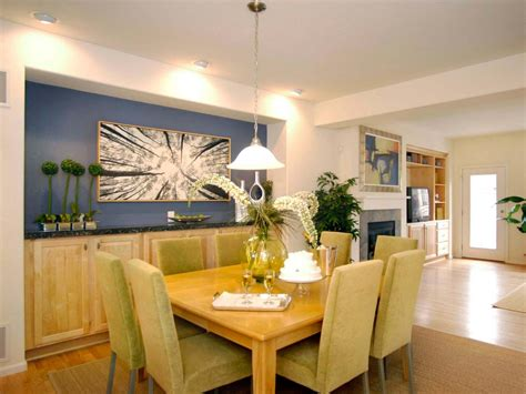 dining room accent wall contemporary dining room with vibrant blue accent wall hgtv