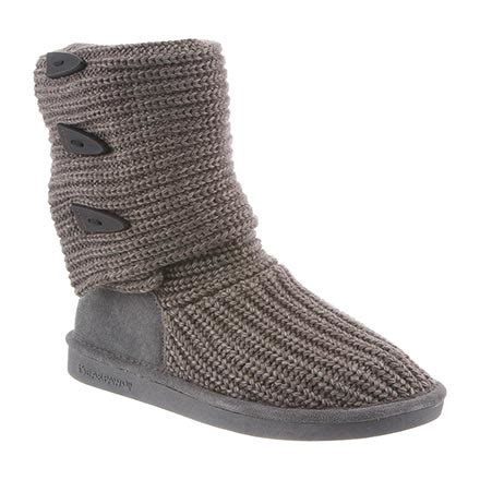 bearpaw knit boots grey womens knit by bearpaw in color 055 gray