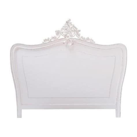white wooden headboard wooden headboard in white w 160cm comtesse maisons du monde
