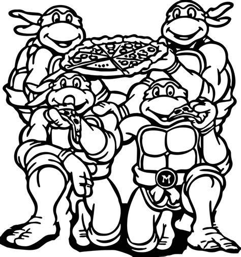 mutant turtles coloring pages birthday