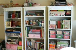 craft room shelves organizing sew thrifty
