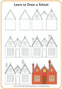 learn how to build a house step by step learn to draw a school