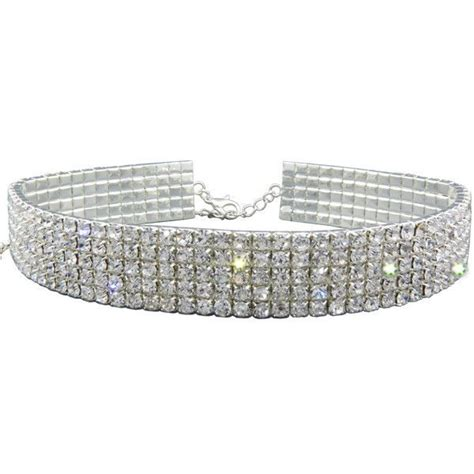 Rhinestoned Choker Silver best 25 rhinestone choker ideas on