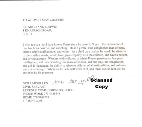 Character Reference Letter Exles For Court Sle Character Reference Letter For Court Appearances
