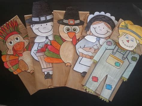 Thanksgiving Paper Bag Crafts - artsy crafter s shop teaching resources tes