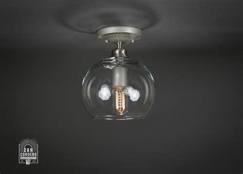 semi flush mount light fixtures semi flush light fixture small globe brushed nickel
