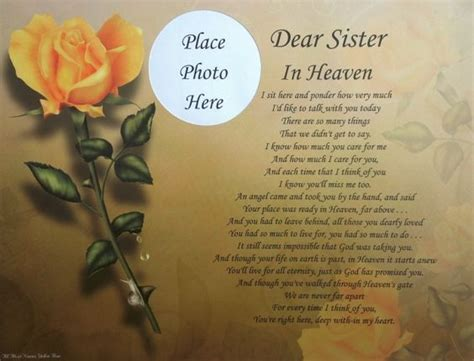 in heaven poem dear in heaven memorial poem gift for loss of loved