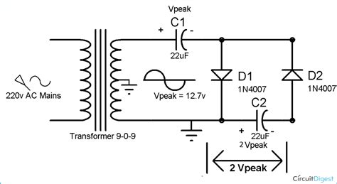 voltage multiplier circuits voltage doubler voltage