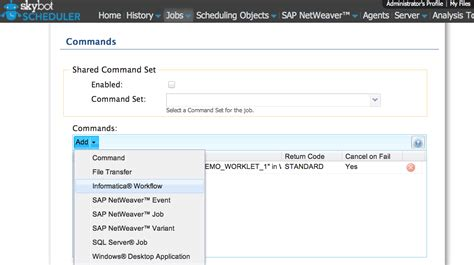 informatica scheduler workflow skybot software adds support for informatica to automate