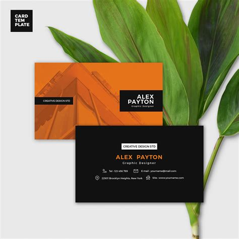 duotone business card template free download age themes