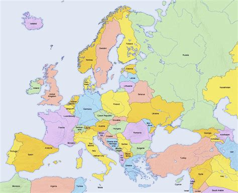 map of european countries maps europe countries map