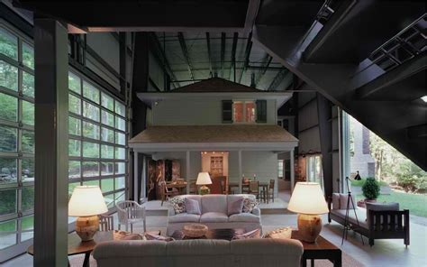 vintage home inside a industrial shed