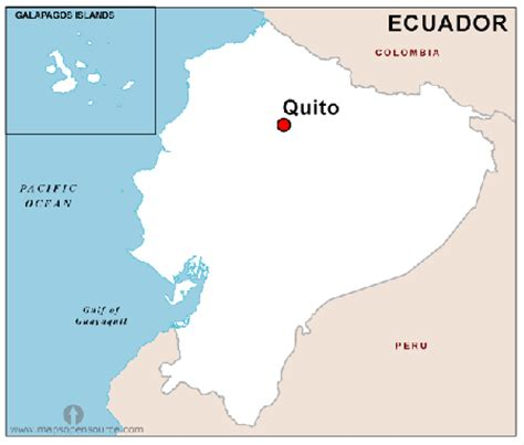 ecuador map south america speaking countries in south america