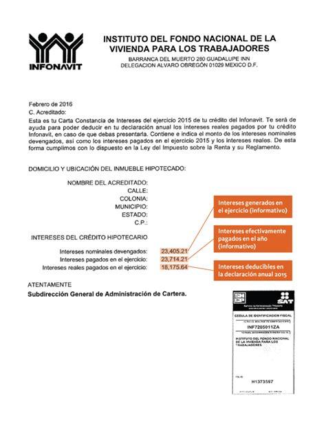 como recuperar los intereses de infonavit imprimir carta imprimir carta de intereses reales infonavit horlicredito