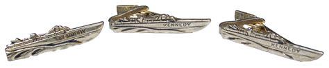 pt boat tie clip lot detail lot of three pt 109 tie bars from jfk s 1960