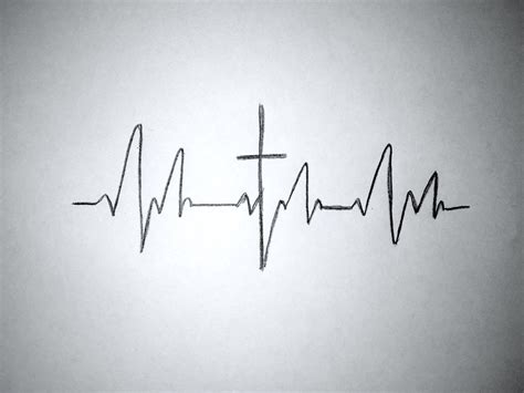 heartbeat tattoo with cross tattoo idea cross in middle of a heartbeat hair