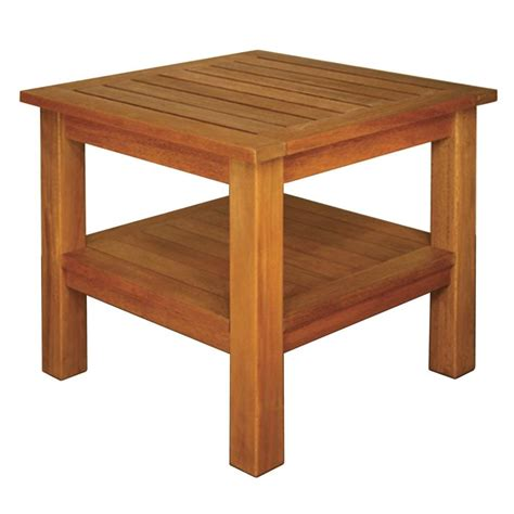 Square Patio Tables Blue Terrace Mates 2 Shelf High End Square Patio Table Eths The Home Depot