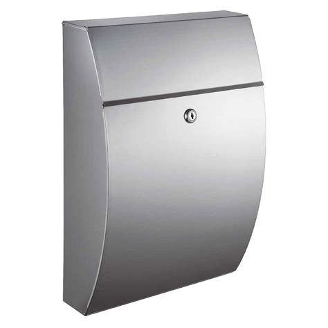stainless steel mailbox glacial locking mailbox stainless steel qualarc wall