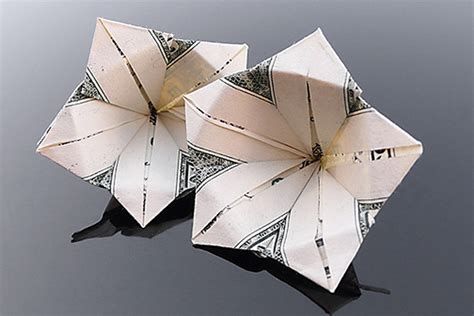 Dollar Bill Flower Origami - flower money origami dollar bill