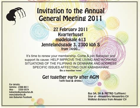 annual meeting invitation template invitation card meeting image collections invitation